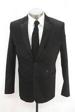 mens black G-STAR Raw Camcord tuxedo blazer jacket evening formal 52 42 R