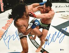 Michael Chandler & Benson Henderson Signed 11x14 Photo BAS COA Bellator MMA UFC