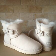 UGG Jackee Swarovski Bailey Bow Bling FreshSnow Suede Boots Size US 10 Womens