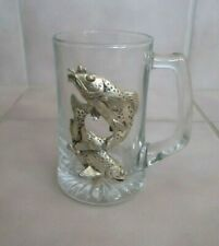 Arthur Court 1998 Trout/Bass Fish 14 oz. Beer Stein Drinking Glass Mug Cup