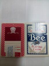 2 mazzi di Carte da gioco BEE WYNN CASINO,usate,poker size