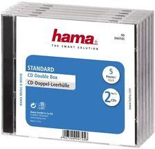 Hama 44745 CD-Doppel-Leerhüllen 5 er NEU & OVP