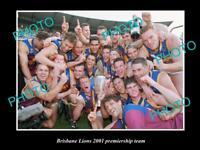 LARGE PHOTO OF THE BRISBANE LIONS 2001 PREMIERSHIP TEAM