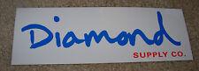 """DIAMOND SUPPLY CO 8"""" White Skate Sticker Cursive Logo skateboards helmets decal"""
