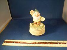 "Vintage Disney Snow White Bashful Dwarf ""You Are My Sunshine"" Music Box"