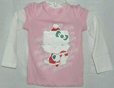 Hello Kitty Tee T-Shirt Christmas PINK TODDLER MEDIUM/5 FREE USA SHIPPING NWT