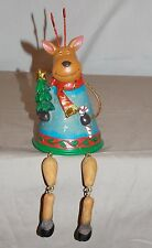 New Decorative Holiday Xmas Reindeer Shelf Sitter Dangling Legs Fireplace 9""