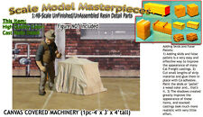 CANVAS COVERED MACHINERY/FLATCAR Load (1pc) Scale Model Masterpieces/YORKE On30