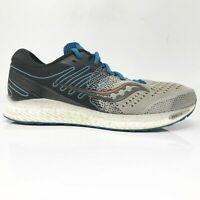 Saucony Mens Freedom 3 S20543-25 Gray Black Blue Running Shoes Lace Up Size 10