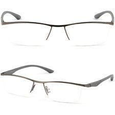Mens Womens Titanium Frame Metal Prescription Glasses Sunglasses Anti Glare Gray