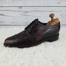 Florsheim Burgundy Leather Shoes Men's 8D Vintage Wingtip Oxford Brogue 30831