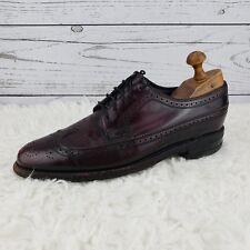 Florsheim Burgundy Leather Shoes Men's 8 Vintage Wingtip Oxford Brogue 30831 8D