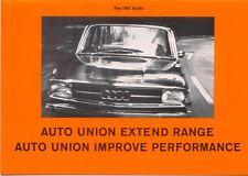 Auto Union Audi Range 70 80 Super 90 1966-67 Original UK Foldout Sales Brochure
