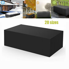 Outdoor Cover Garden Furniture Waterproof Patio Rattan Table Chair Cube Black