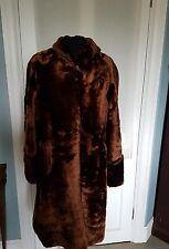 True Vintage Faux fur abrigo década de 1940 magnífico