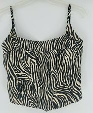 Jessica McClintock For Gunne Sax Womens Size 11 Zebra Print Bodice Corset Boning