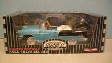 New Nassau Blue and Black 1955 Chevy Bel Air Die-cast Pedal Car Bank By Gearbox