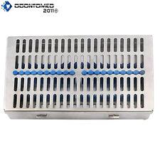 German Dental Autoclave Sterilization Cassette Rack Box Tray For 20 Instruments
