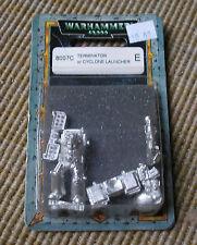 40k oop Blister Rare Vintage Metal Space Marine Terminator Cyclone Missiles NIB