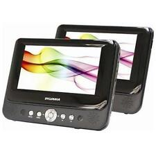 """Sylvania SDVD8738 Portable 2 DVD Player (7"""") For use in car or at home"""