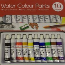 10 WATER COLOURS PAINTING SET PAINTINGS ARTISTS PAINTS HOBBIES PICTURES KIT