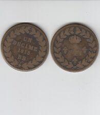 Gertbrolen  Blocus de Strasbourg  10 Centimes 1815 Louis XVIII   Sans Point