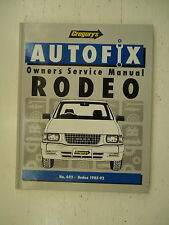 GREGORY'S - AUTOFIX - OWNERS SERVICE MANUAL - RODEO