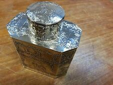MAGNIFICENT ANTIQUE STERLING SILVER TEA CADDY, MUSEUM QUALITY, EXTREMELY RARE