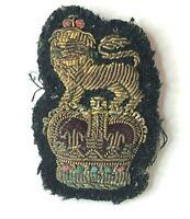 1950's British Army Colonels bullion Cap Badge Patch 46 x 30 mm