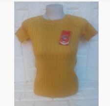 CASUAL TOP NC VERTICAL PATTERN - MUSTARD