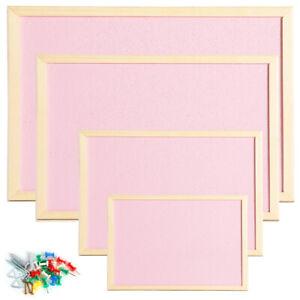Cork Pin Boards Wooden Frame Kitchen Notice School Pink Coloured OfficeCentre®