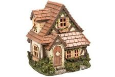FAIRY GARDEN Miniature ~ Garden Cottage House with Shingle Roof ~ Mini Dollhouse