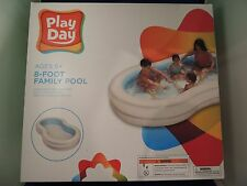 New Play Day 8' (feet) Inflatable Swimming  Pool NIB Summer Family Fun