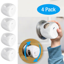 Child Door Knob Safety Cover Proof Safe Children Lock Guard Kids Toddler 4 Pack