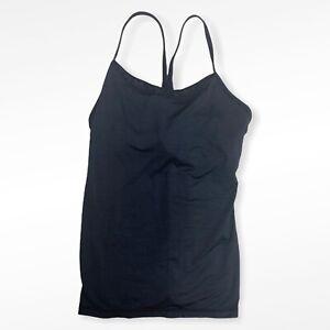 Lululemon Size 2 Black Sheer Trim Power Y Tank Womens Activewear for Yoga Run