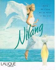 PUBLICITE ADVERTISING 124  1995  LALIQUE  parfum  femme  NILANG