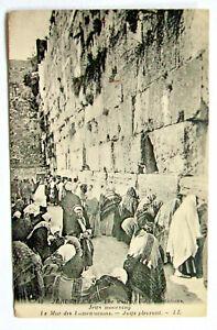 Postcard - JERUSALEM, LE MUR DES LAMENTATIONS, WAILING WALL, JEWS   (EX26-8)