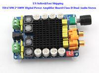 US TDA7498 2*100W Digital Class D Dual Audio Stereo Power Amplifier Board