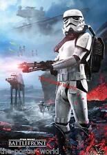 Star wars battlefront image brillant poster wall art print neuf
