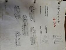 Bsf3611 H Spare Parts List Book Putzmeister Truck Mounted Concrete Pump
