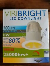 20 x 8w Cool White (6000K) LED Downlight, 10cm, Dimmable, Free Postage