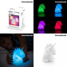 Lampara infantil niños Unicornio con Luz Led multicolor 9x11x10 cm, quitamiedos