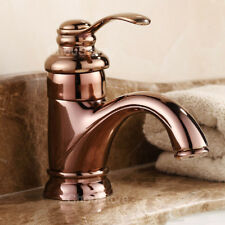 Vanity Bowl Mixer Tap Lever Handle NEW Rose Gold Bathroom Basin Faucet for House