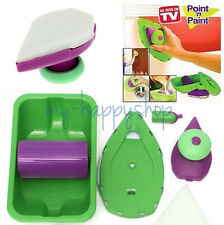 For Home Wall Paint Corner Point Pad Sponge Roller Tray Set Painting Brush Kit