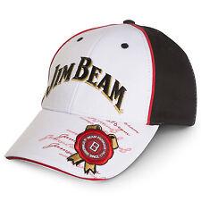 White JIM BEAM BOURBON Logo Hat Cap Man Cave Christmas Birthday Fathers Gift