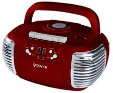 Groov-e - GVPS813RED - Cd / Radio Boombox With Cassette Player, Red