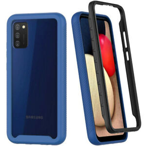 For SamSung Galaxy A02S Shockproof  Clear Case Bumper Silicone Slim Phone Cover