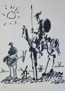 PABLO PICASSO DON QUIXOTE 1955 SIGNED HAND NUMBERED 482/1000 LITHO Quichotte