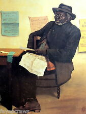ETHNIC OLD MAN READING NEWSPAPER PICTURE PRINT ONLY 16X20