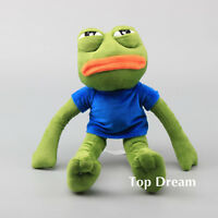 Cartoon Pepe Sad Frog Toy Plush Stuffed Animal Doll 17'' Kids Gift